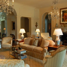 Traditional Family Room by Meg Adams Interior Design