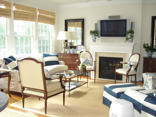 Traditional Family Room by Megan Smythe Design