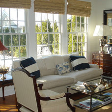 Eclectic Family Room by Megan Smythe Design