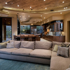 Contemporary Family Room by Process Design Build, L.L.C.