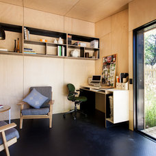 Contemporary Family Room by Backyard Room