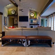 Modern Family Room by Sweetlake Interior Design LLC
