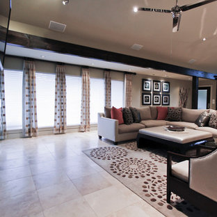 Memorial City, Texas | Springwell Midcentury Modern Family Room | Entire Home Re