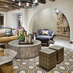 Memorial Moroccan Mediterranean Family Room Houston