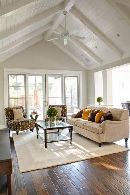 Traditional Family Room by Allwood Construction Inc