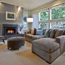 Contemporary Family Room by Lisa Lucas Design