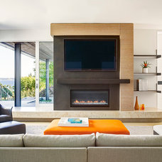 Contemporary Family Room by Stuart Silk Architects | Limited PS