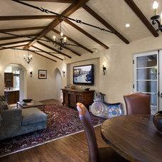 Mediterranean Family Room by Lynch Construction