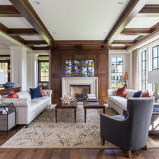 Transitional Family Room by Hendel Homes