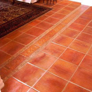 Mexican Saltillo Tile with Custom Edge - Floor Design