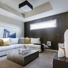 Modern Family Room by Natalie Fuglestveit Interior Design