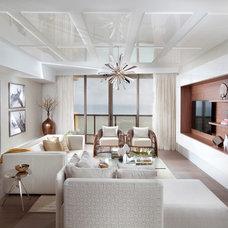 Contemporary Family Room by DKOR Interiors Inc.- Interior Designers Miami, FL