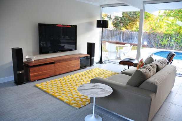 Midcentury Family Room by Urbanism Designs