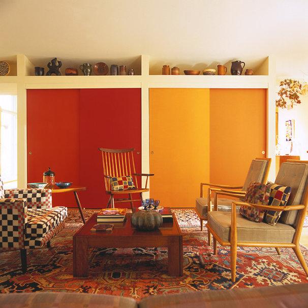 Midcentury Family Room by Johnson Berman