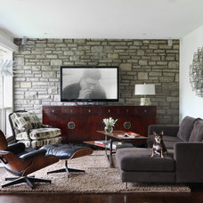 Modern Family Room by Cure Design Group