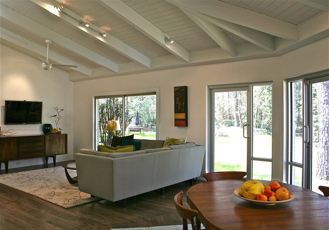 Midcentury Family Room by Sean Key Design - Architecture