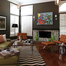 Midcentury Family Room by Troy Spurlin Interiors