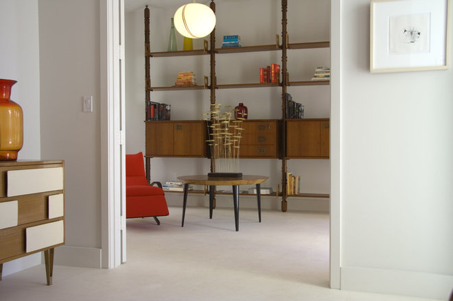 Midcentury Family Room by Amy Lau Design