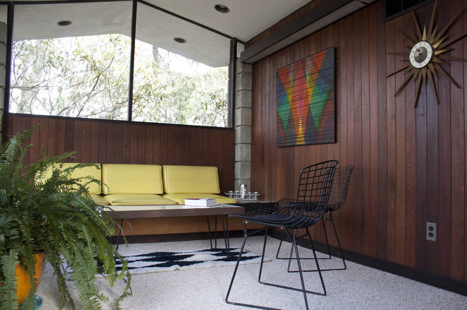 Midcentury Family Room by At Home Modern