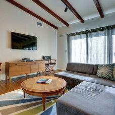 Midcentury Family Room by Natasha Jansz Design