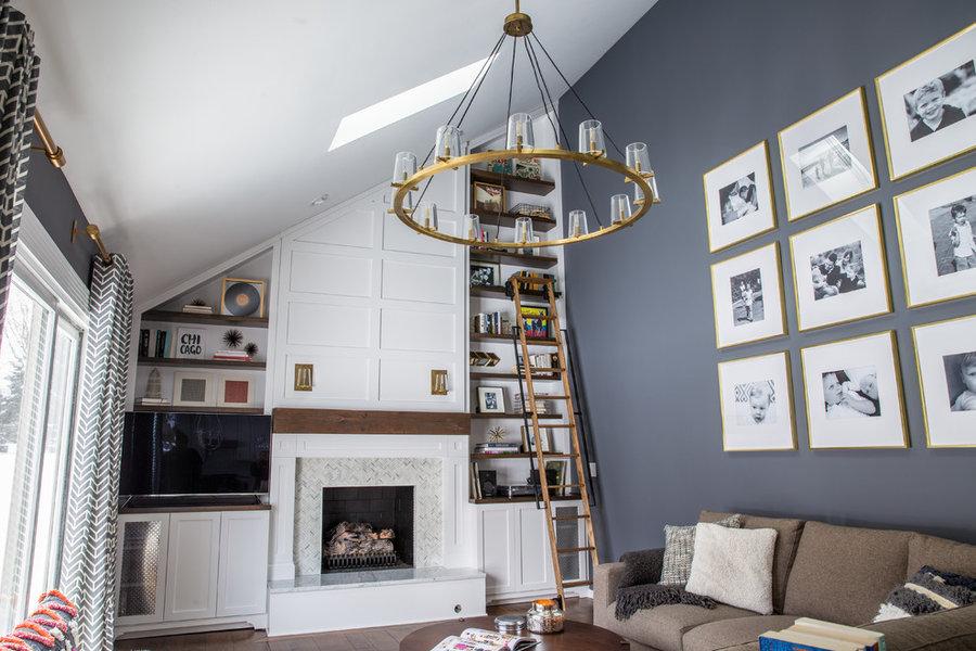 Midcentury Inspired Family Room