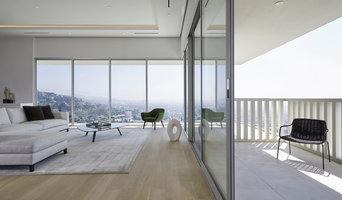 "Midcentury modern condominium featuring our ""Ghost"" finish on european oak"