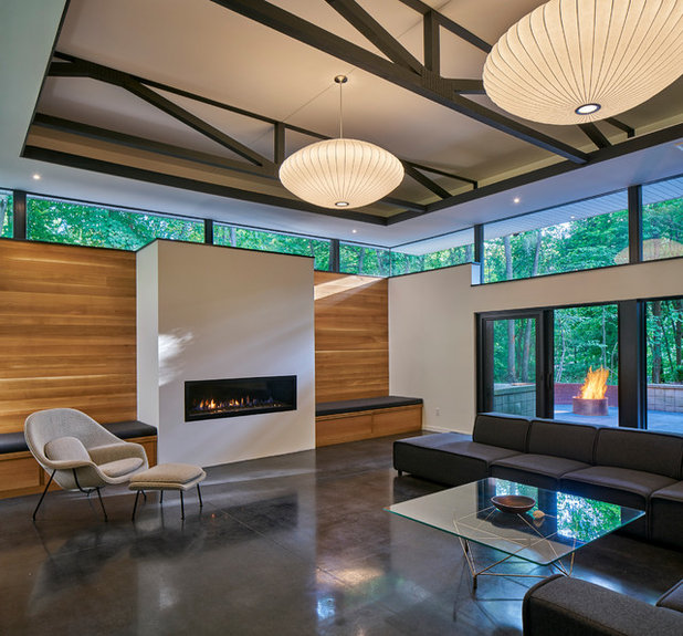 Best Midcentury Family Room by MATHISON MATHISON ARCHITECTS