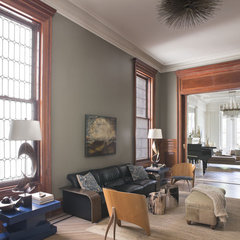 eclectic family room by Neuhaus Design Architecture, P.C.
