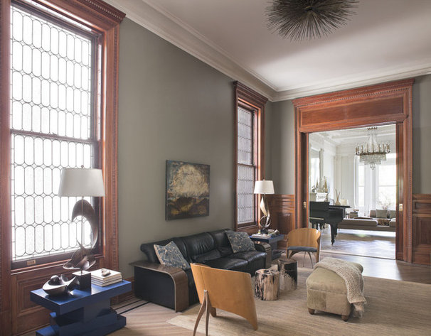 Transitional Family Room by Neuhaus Design Architecture, P.C.