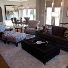 Contemporary Family Room by M2 Design Group