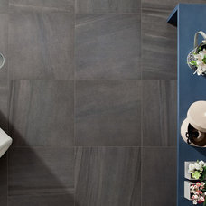 Contemporary Family Room by Euro Ceramic Tile