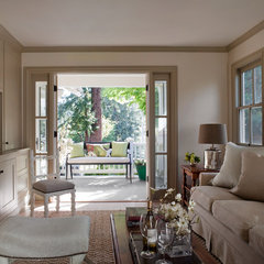 traditional family room by Heydt Designs
