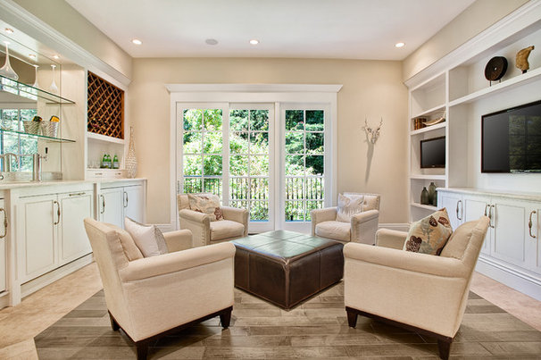 Traditional Family Room by KCS, Inc.