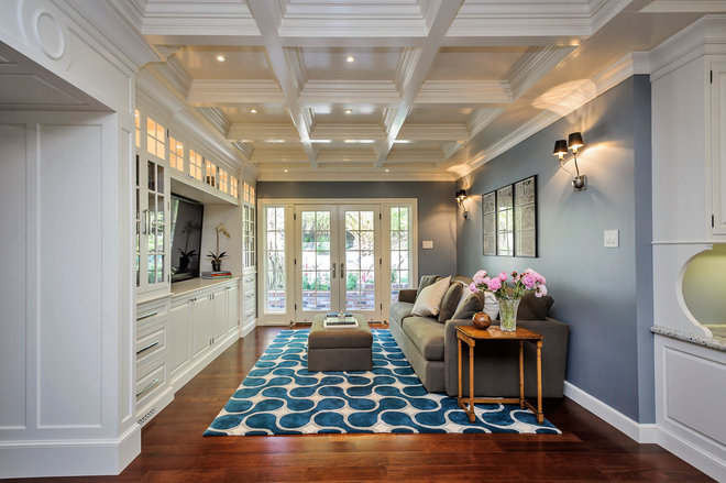 Traditional Family Room by Leslie Ann Interior Design