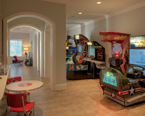 Arcade game home design ideas pictures remodel and decor - Family game room ideas ...
