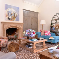 Eclectic Family Room by Kim Armstrong