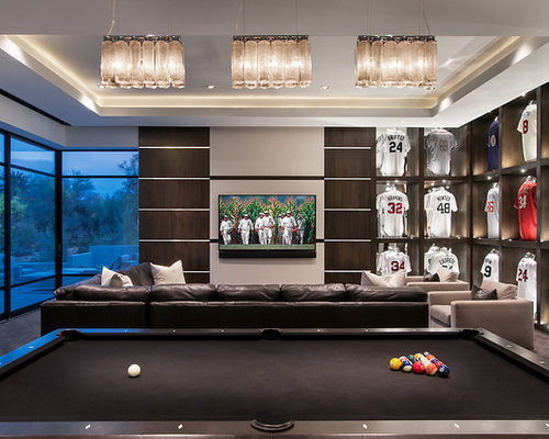 Black interior doors with white trim - Sports Room Home Design Ideas Pictures Remodel And Decor
