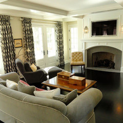 traditional family room by COOK ARCHITECTURAL Design Studio