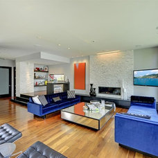 Contemporary Family Room by Turnquist Design
