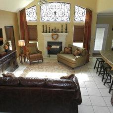 Traditional Family Room by Rhonda Ferguson, Interiors Refined LLC