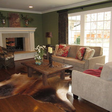 Eclectic Family Room by Refined Interior Staging Solutions