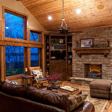 Traditional Family Room by Baratto Brothers Construction