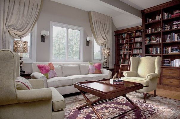 Traditional Family Room by Panache Home Decorating