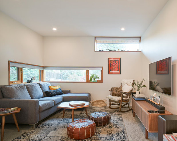 Midcentury Family Room by Lanefab Design/Build