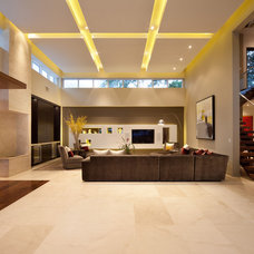 Contemporary Family Room by Storch Entertainment Systems