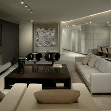Contemporary Family Room by Troy Dean Interiors