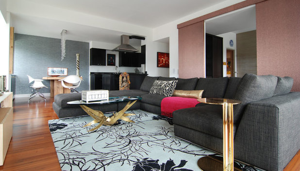 Contemporary Family Room by MJ Lanphier