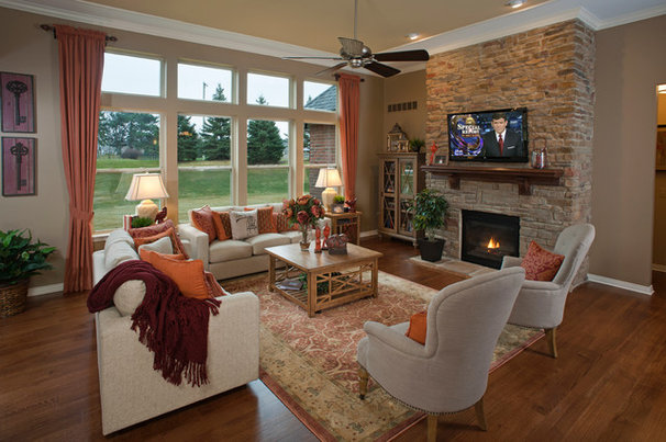 Traditional Family Room by Eleni Interiors