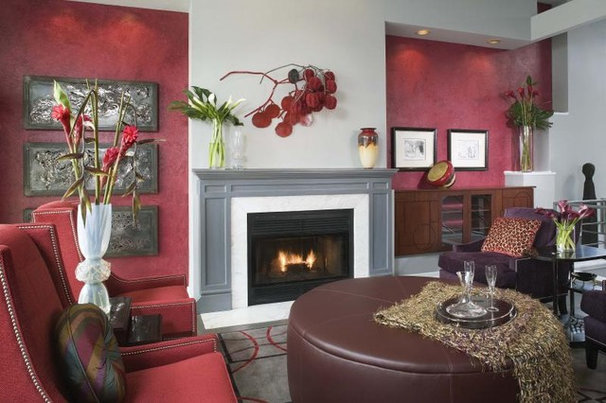Eclectic Family Room by Michael J. Moore