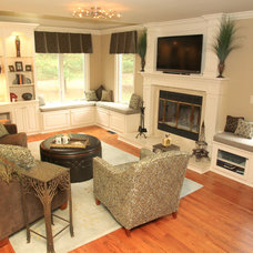 Traditional Family Room by MMM Designs